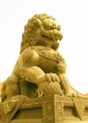 风水狮子的摆放讲究,一雌一雄成双摆放