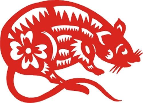 大红剪纸生肖图欣赏