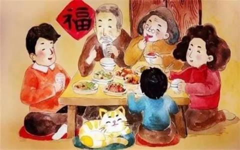 正月初一拜大年,迎新祭祖吃饺子